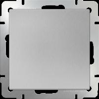 WL06-SW-1G-2W / Выключатель одноклавишный проходной (серебряный)