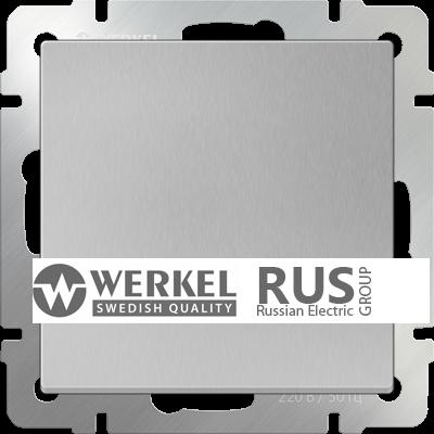 WL06-SW-1G / Выключатель одноклавишный (серебряный)