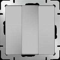 WL06-SW-3G / Выключатель трехклавишный (серебряный) a033751