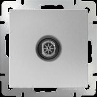 WL06-TV-2W / ТВ-розетка проходная (серебряный)