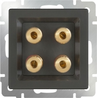 WL07-AUDIOx4 / Акустическая розетка (серо-коричневый) a030817