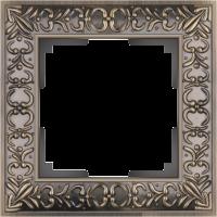 WL07-Frame-01 / Рамка Antik на 1 пост (Бронза)