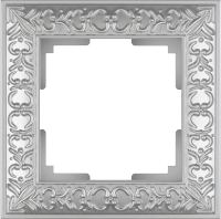 WL07-Frame-01 / Рамка Antik на 1 пост (Жемчужный) a031782
