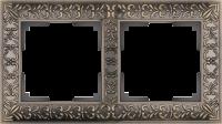 WL07-Frame-02 / Рамка Antik на 2 поста (Бронза) a029839