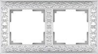 WL07-Frame-02 / Рамка Antik на 2 поста (Жемчужный) a031783