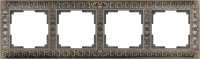 WL07-Frame-04 / Рамка Antik на 4 поста (Бронза)