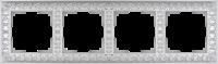 WL07-Frame-04 / Рамка Antik на 4 поста (Жемчужный)