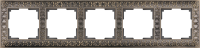 WL07-Frame-05 / Рамка Antik на 5 постов (Бронза) a030758