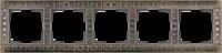 WL07-Frame-05 / Рамка Antik на 5 постов (Бронза)