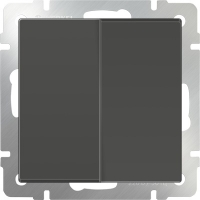 WL07-SW-2G-2W / Выключатель двухклавишный проходной (серо-коричневый) a035911
