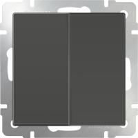 WL07-SW-2G / Выключатель двухклавишный (серо-коричневый)