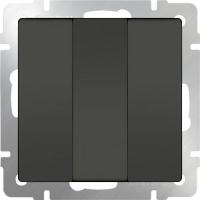 WL07-SW-3G / Выключатель трехклавишный (серо-коричневый) a039273
