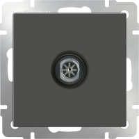 WL07-TV-2W / ТВ-розетка проходная (серо-коричневый)
