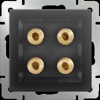 WL08-AUDIOx4 / Акустическая розетка (черный матовый)