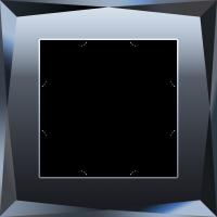 WL08-Frame-01 / Рамка Diamant на 1 пост (Черный) a029843