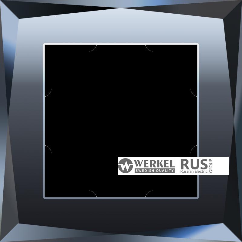 WL08-Frame-01 / Рамка Diamant на 1 пост (Черный)