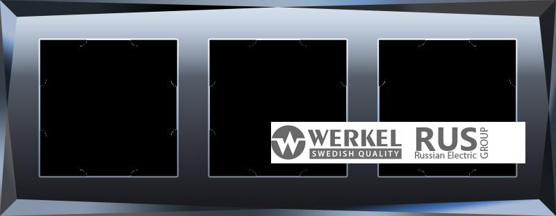 WL08-Frame-03 / Рамка Diamant на 3 поста (Черный)