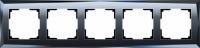 WL08-Frame-05 / Рамка Diamant на 5 постов (Черный) a030761