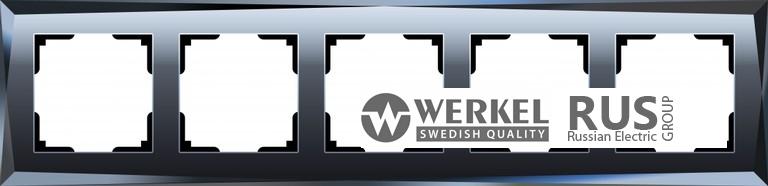 WL08-Frame-05 / Рамка Diamant на 5 постов (Черный)