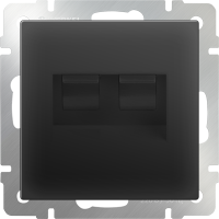WL08-RJ11+RJ45 / Розетка телефонная RJ-11 и Еthernet RJ-45 (черный матовый) a029857