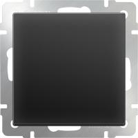 WL08-SW-1G-2W / Выключатель одноклавишный проходной (черный матовый)