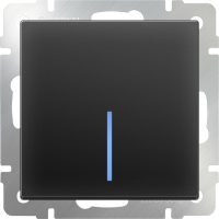 WL08-SW-1G-LED / Выключатель одноклавишный с подсветкой (черный матовый) a029871