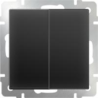 WL08-SW-2G-2W / Выключатель двухклавишный проходной (черный матовый)