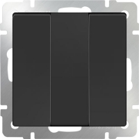 WL08-SW-3G / Выключатель трехклавишный (черный матовый) a033753