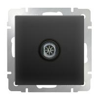 WL08-TV-2W / ТВ-розетка проходная (черный матовый)