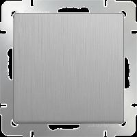WL09-SW-1G-2W / Выключатель одноклавишный проходной (серебряный рифленый)