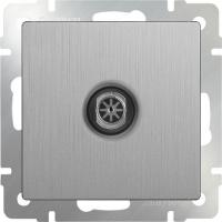 WL09-TV / ТВ-розетка оконечная (серебряный рифленый)
