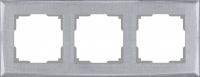 WL10-Frame-03 / Рамка Shine на 3 поста (серебряный)