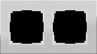Рамка Werkel Aluminium 2 пост WL11-Frame-02 Алюминий