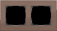 Рамка Werkel Aluminium 2 пост WL11-Frame-02 Коричневый алюминий a033746