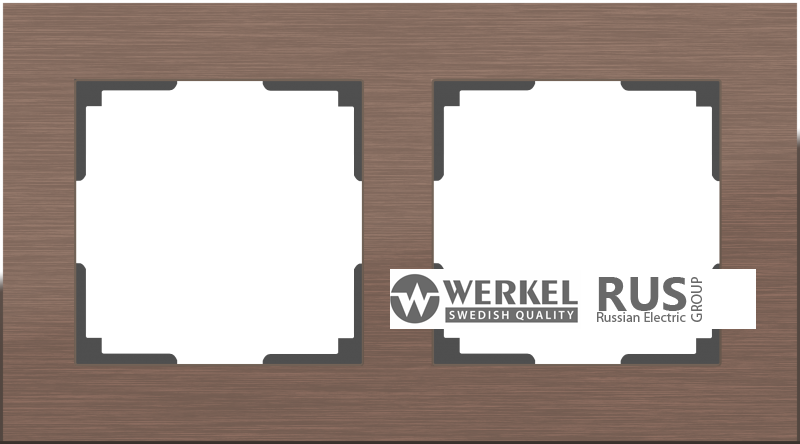 Рамка Werkel Aluminium 2 пост WL11-Frame-02 Коричневый алюминий