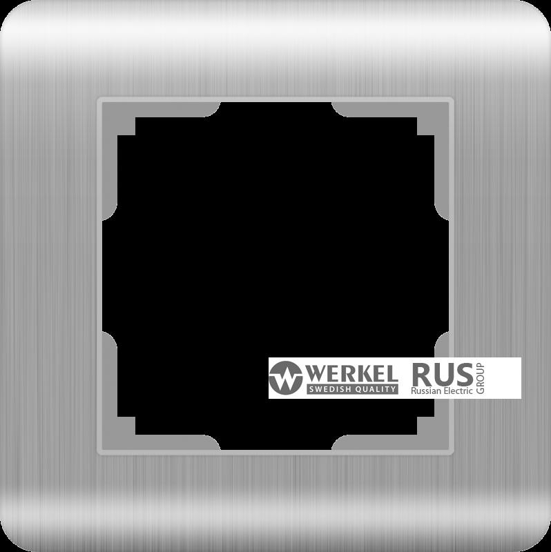 Рамка Werkel Stream на 1 пост WL12-Frame-01 Серебряный