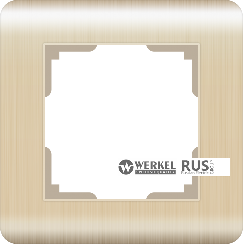Рамка Werkel Stream на 1 пост WL12-Frame-01 Шампань