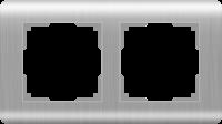 Рамка Werkel Stream на 2 поста WL12-Frame-02 Серебряный a034327