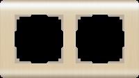 Рамка Werkel Stream на 2 поста WL12-Frame-02 Шампань a034612