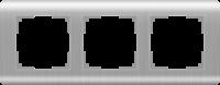 Рамка Werkel Stream на 3 поста WL12-Frame-03 Серебряный a034328
