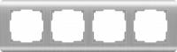 Рамка Werkel Stream на 4 поста WL12-Frame-04 Серебряный