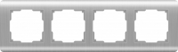 Рамка Werkel Stream на 4 поста WL12-Frame-04 Серебряный a034329