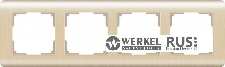 Рамка Werkel Stream на 4 поста WL12-Frame-04 Шампань