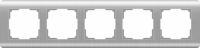 Рамка Werkel Stream на 5 постов WL12-Frame-05 Серебряный a034330