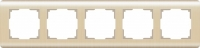 Рамка Werkel Stream на 5 постов WL12-Frame-05 Шампань